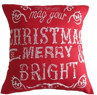 The Holiday Aisle Martell Christmas Decorative Embroidered Burlap Pillow Cover The Holiday Aisle