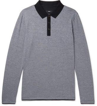 HUGO BOSS Mélange Cotton-Jersey Polo Shirt