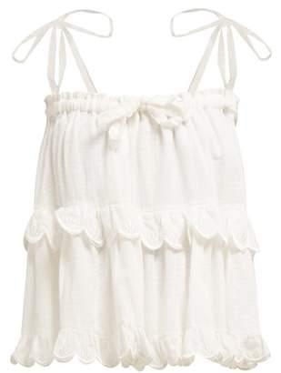 Innika Choo - Stella Hotte Tiered Cotton Top - Womens - White