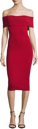 Nicholas Milano Off-the-Shoulder Bandage Dress