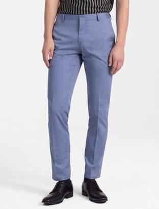 Calvin Klein slim fit cotton blend woven zip pants