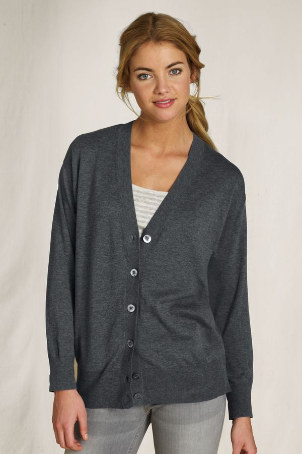 Women's Boyfriend V-neck Cardigan Sweater