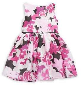 Laura Ashley Pastourelle Little Girl's Floral-Print Pleated Dress