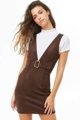 Forever 21 Faux Suede Pinafore Dress