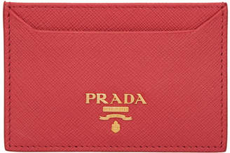 Prada Red Card Holder
