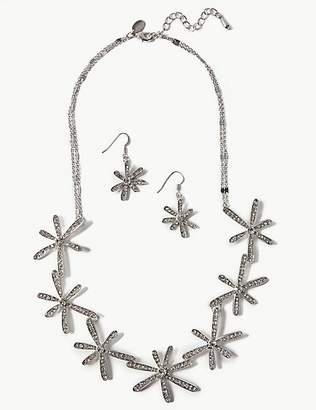 M&S Collection Flower Sticks Necklace & Earrings Set