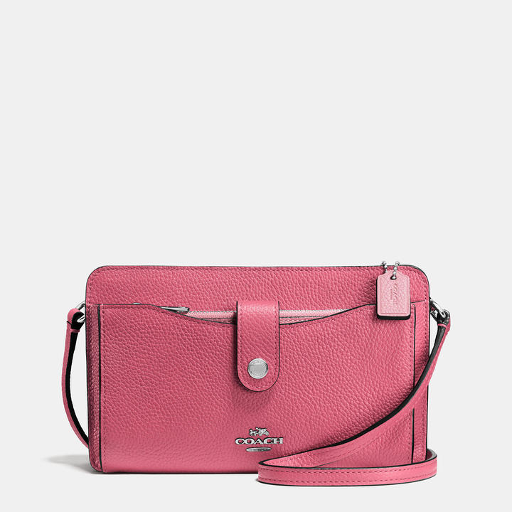 Coach   COACH Coach Messenger With Pop-up Pouch In Colorblock Leather
