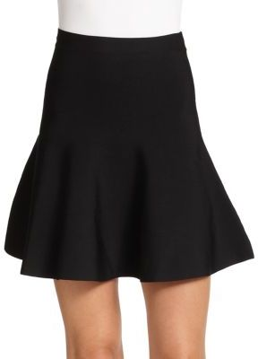 BCBGMAXAZRIA Ingrid Ponte Knit Fit-&-Flare Skirt $158 thestylecure.com