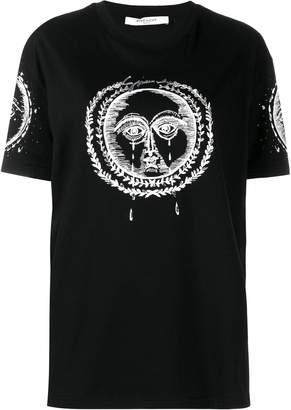 Givenchy moon and sun embroidered oversized T-shirt