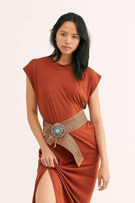 Leather Rock Tessa Turquoise Woven Hip Belt