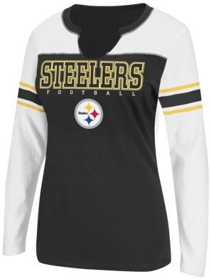 NFL Women's Long Sleeve Split Neck - Steelers