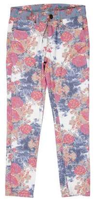 Blank NYC Mid-Rise Floral Jeans