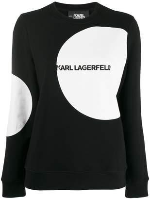 Karl Lagerfeld Paris Dots logo sweatshirt