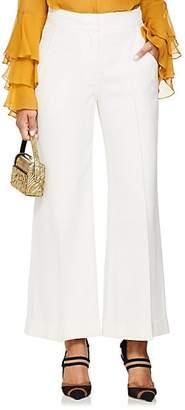 Derek Lam Women's Crepe Crop Wide-Leg Trousers - White