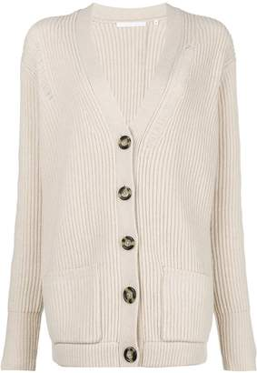 Helmut Lang ribbed mid-length cardigan