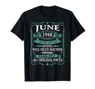 Vintage Made in June 1948 71st Years Old Birthday T-Shirt