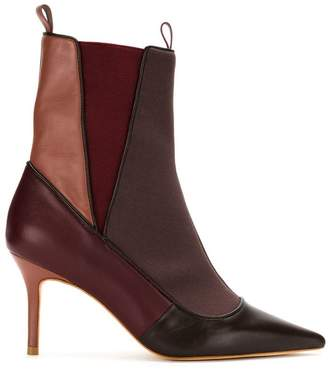 Sarah Chofakian panelled stiletto ankle boots