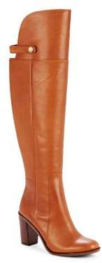 Navaria Leather Knee-High Boots $289 thestylecure.com