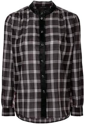 Marc Jacobs contrast satin trim shirt
