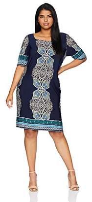 Tiana B Women's Size Plus Puff Print sheat Dress