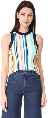 Milly Vertical Stripe Shell Top $265 thestylecure.com