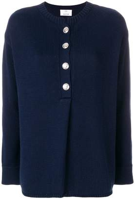 Allude buttoned sweater