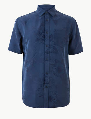 Marks and Spencer Modal Rich Floral Print Shirt
