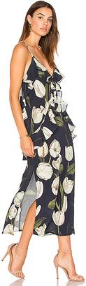 MLM Label Ruffle Slip Dress in Blue $220 thestylecure.com