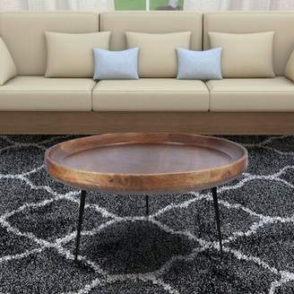 Union Rustic Streeter Round Mango Wood Coffee Table Union Rustic