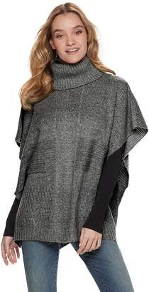 Apt. 9 Women's Cable-Knit Patchwork Poncho