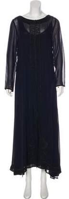 Alberta Ferretti Long Sleeve Maxi Dress