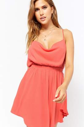 Forever 21 Lace-Up Fit & Flare Dress