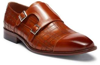 Steven Land Double Monk Strap Leather Loafer