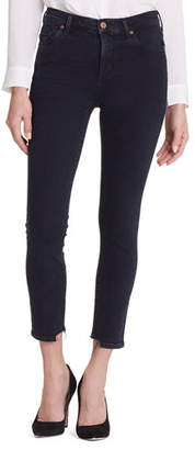 Citizens of Humanity Rocket Cropped High-Rise Jeans with Chewed Hem