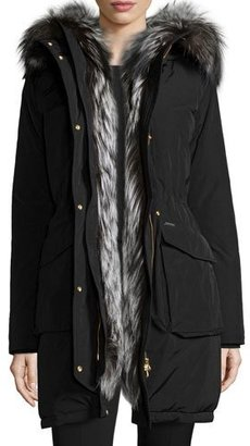 Woolrich Fur-Lined Military Parka, Black $1,495 thestylecure.com