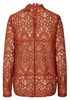 Laundry by Shelli Segal LOLLYS LAUNDRY Rust, Lace Top