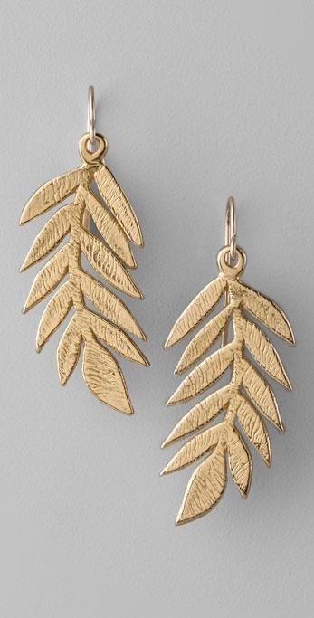 Gorjana Olive Leaf Earrings