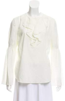 Rachel Zoe Textured Ruffled Top