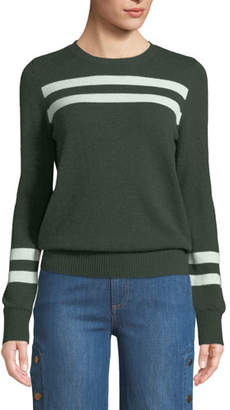 Rebecca Minkoff Marlowe Striped Wool-Cashmere Sweater