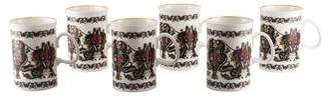 Gucci Set of 6 Floral Coffee Mugs