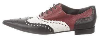 Gucci Gia Leather Brogue Oxfords