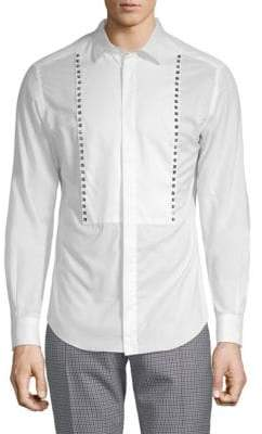 Valentino Embellished Cotton Button-Down Shirt