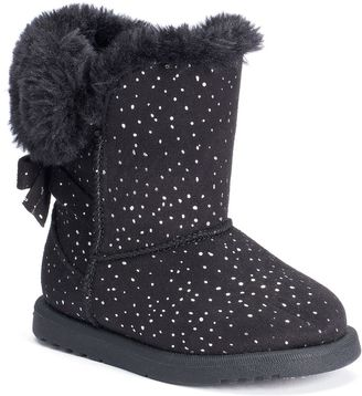 Jumping Beans® Toddler Girls' Sparkly Pom-Pom Boots $44.99 thestylecure.com