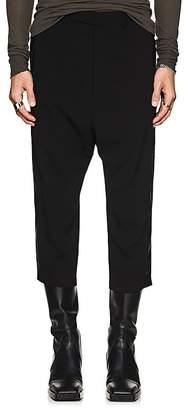 Rick Owens Men's Track-Striped Virgin Wool Crop Trousers