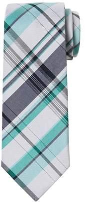 Banana Republic Madras Plaid Cotton-Silk Nanotex® Tie