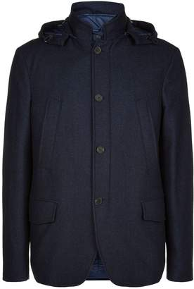 Canali Detachable Gilet Hooded Coat