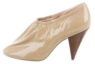 Celine Patent Leather Round-Toe Booties