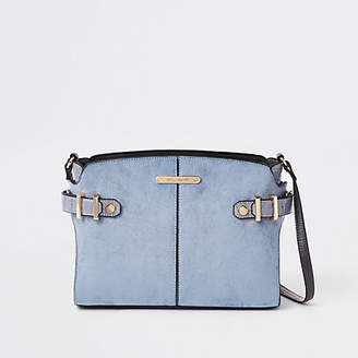 River Island Womens Blue tab side cross body bag