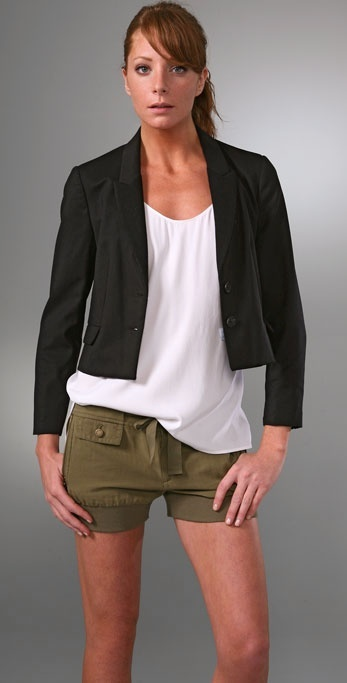 Madewell Cropped Tux Jacket