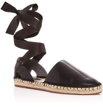 Rebecca Minkoff Women's Vivien Leather Ankle Tie d'Orsay Espadrille Flats
